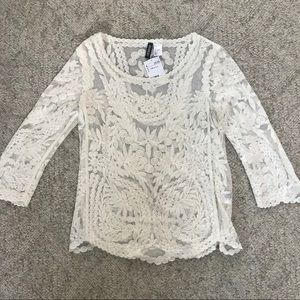 NWT Lace top